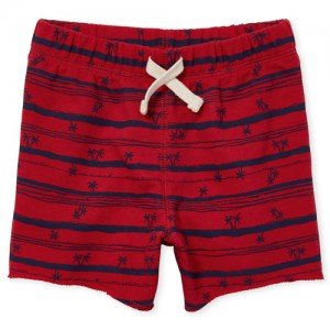 Baby And Toddler Boys Print Terry Knit Shorts