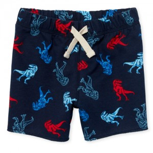 Baby And Toddler Boys Print Knit Terry Shorts