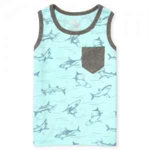 Baby And Toddler Boys PLACE Sport Print Striped Pocket Tank Top