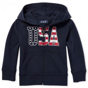 Baby And Toddler Boys Americana 'USA' Full Zip Hoodie