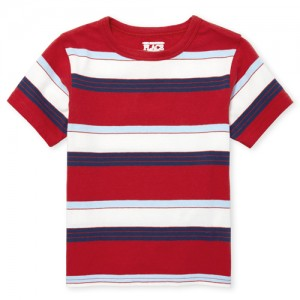 Baby And Toddler Boys Matchables Short Sleeve Striped Top