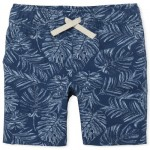 Boys Print Woven Pull On Jogger Shorts