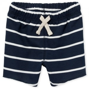 Baby And Toddler Boys Striped Knit Terry Shorts