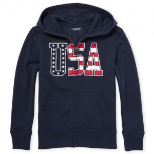Boys Americana 'USA' Full Zip Hoodie