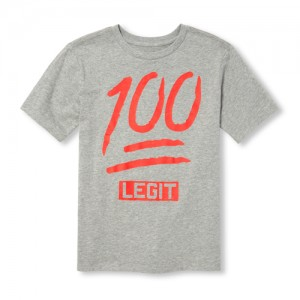 Boys Short Sleeve '100 Legit' Graphic Tee