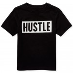 Baby And Toddler Boys Short Sleeve 'Hustle' Graphic Tee
