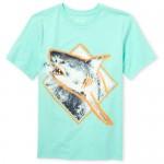 Boys Short Sleeve Shark Graphic Tee