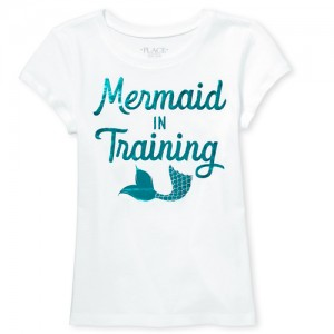 Girls Mommy And Me Short Sleeve Foil 'Mermaid' Matching Graphic Tee