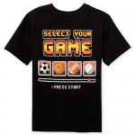 Boys Short Sleeve 'Select Your Game' Sports Graphic Tee