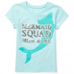 Girls Short Sleeve Foil 'Mermaid Squad' Graphic Tee