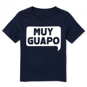 Baby And Toddler Boys Short Sleeve 'Muy Guapo' Graphic Tee