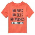 Baby And Toddler Boys Short Sleeve 'No Worries' Graphic Tee