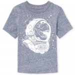 Baby And Toddler Boys Short Sleeve Space Dino Graphic Tee