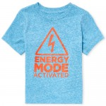Baby And Toddler Boys Short Sleeve 'Energy Mode Activated' Graphic Tee