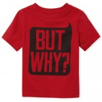 Baby And Toddler Boys Short Sleeve 'But Why' Graphic Tee