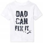 Baby And Toddler Boys Short Sleeve 'Dad Can Fix It' Graphic Tee