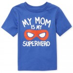 Baby And Toddler Boys Short Sleeve 'My Mom Is My Superhero' Graphic Tee