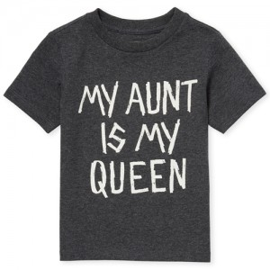 Baby And Toddler Boys Short Sleeve 'My Aunt Is My Queen' Graphic Tee