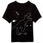Baby And Toddler Boys Short Sleeve Dino Space Graphic Tee
