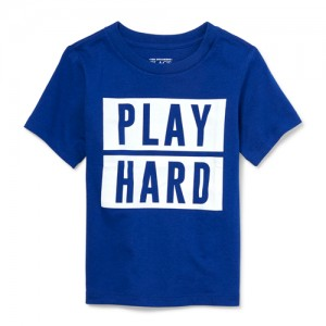 Baby And Toddler Boys Dad And Me Short Sleeve 'Play Hard' Matching Graphic Tee