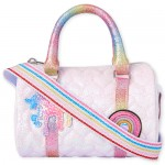 Girls Rainbow Unicorn Heart Quilted Bag