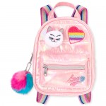 Girls Rainbow Patch Quilted Mini Backpack