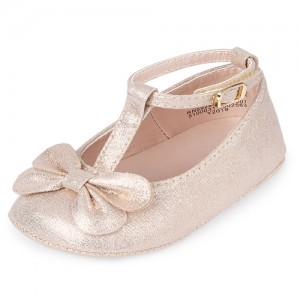 Baby Girls Bow T Strap Ballet Flats