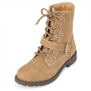 Girls Ankle Strap Lace Up Boots