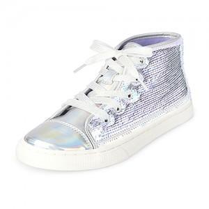 Girls Flip Sequin Holographic Hi Top Sneakers
