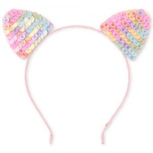 Girls Flip Sequin Cat Ears Headband