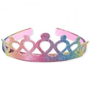 Toddler Girls Rainbow Glitter Tiara Headband