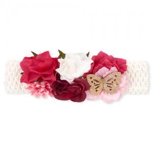 Baby Girls Flower Crochet Headwrap