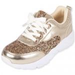 Girls Glitter Metallic Sneakers
