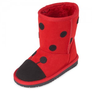 Toddler Girls Little Love Bug Faux Fur Boots