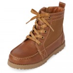Boys Lace Up Hi Top Boots