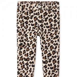 Baby And Toddler Girls Leopard Print Knit Pull On Jeggings