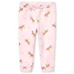 Baby And Toddler Girls Active Glitter Unicorn Print Fleece Jogger Pants