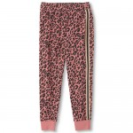 Girls Active Cheetah Fleece Jogger Pants