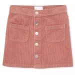 Girls Button Front Corduroy Skirt
