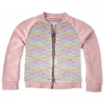 Girls Flip Sequin Bomber Jacket