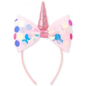 Girls Pailette Bow Unicorn Headband