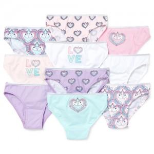 Girls Unicorn Bikini Briefs 10-Pack