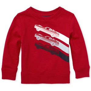 Baby And Toddler Boys Active Long Sleeve Graphic French Terry Sweatshirt