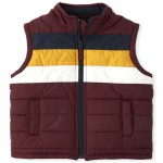 Boys Colorblock Puffer Vest