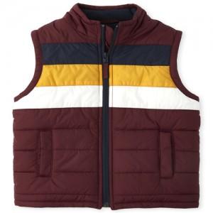 Boys Colorblock Puffer Vest