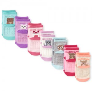 Toddler Girls Critter Days Of The Week Midi Socks 7-Pack