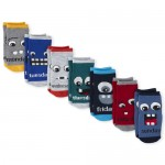 Toddler Boys Monster Days Of The Week Crew Socks 7-Pack