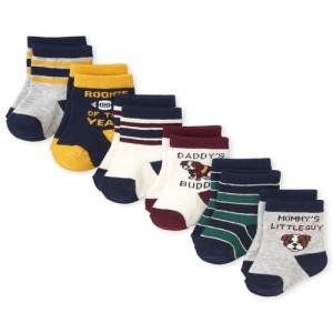 Baby Boys Dog Varsity Crew Socks 6-Pack