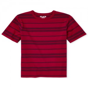 Boys Short Sleeve Striped Layering Tee