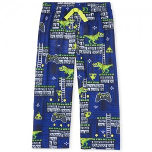 Boys Dino Game Print Pajama Pants